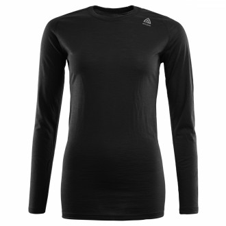 Термокофта жен. Aclima LightWool Shirt Crew Neck Woman JetBlack XS