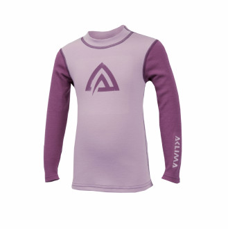 Термокофта дет. Aclima WarmWool Crew Neck Children Mauve Shadows/Damson 100 см