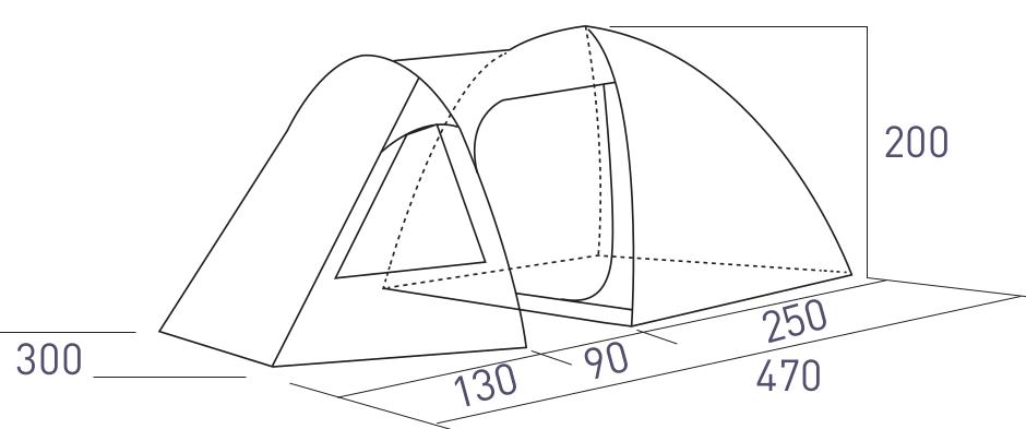 Схема палатаки Summit Pinnacle Hydrahalt 5P (571058)