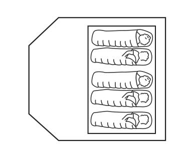 Схема палатаки Summit Pinnacle Hydrahalt 5P (571058), вид сверху
