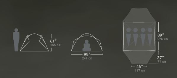 Туристическая палатка NEMO Losi 4P