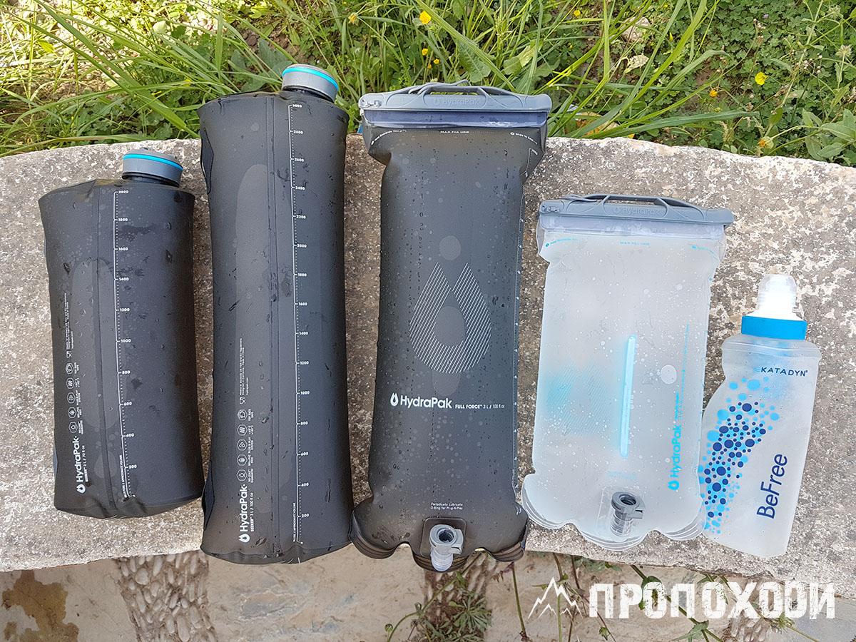 Резервуари для води та питні системи HydraPak, фільтр Katadyn BeFree