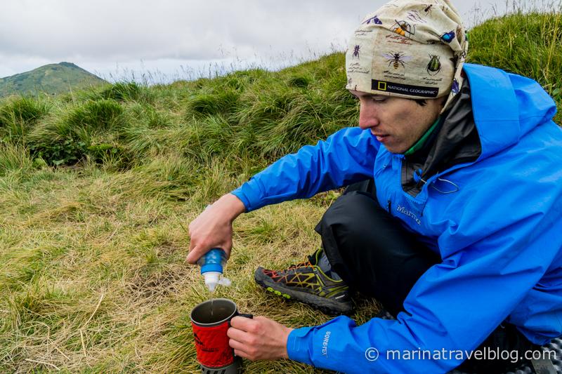 Фильтр для воды Katadyn BeFree в полевых условиях