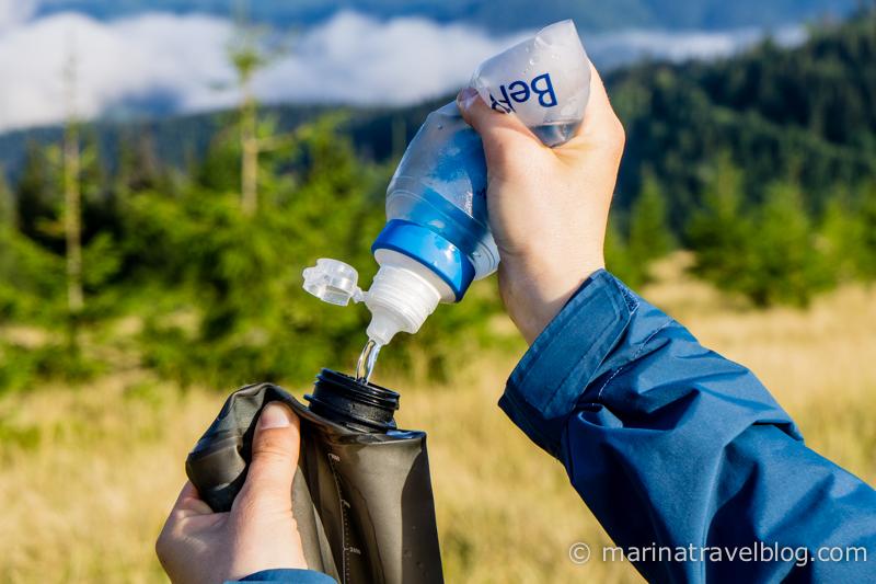 Очищаем воду в походе: Katadyn BeFree и HydraPak Seeker