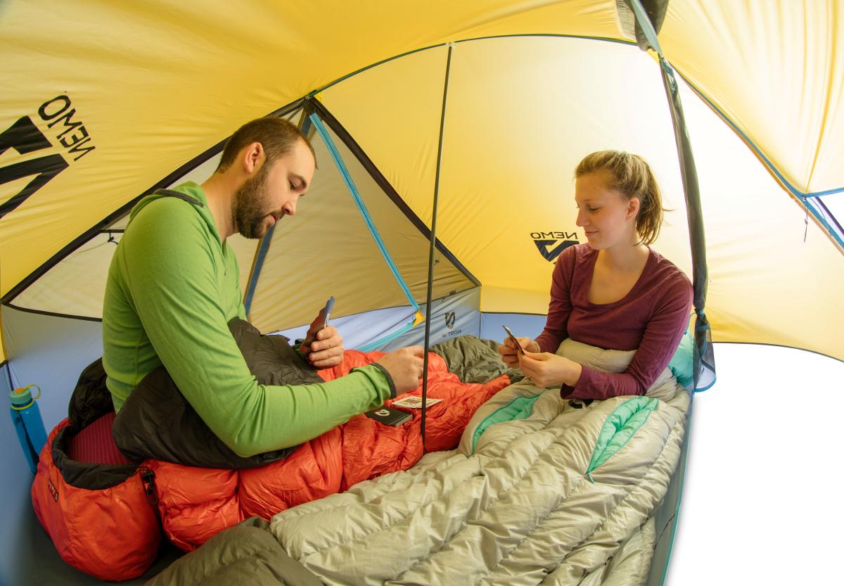 Двухместная американская туристическая палатка для легкоходов NEMO Rocket 2P