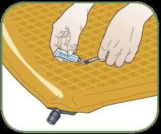 Как заклеить надувной туристический коврик для походов