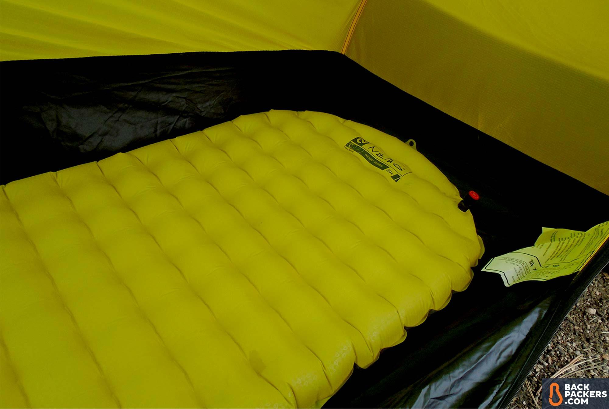Ультралегкий надувной коврик для туризма NEMO Tensor