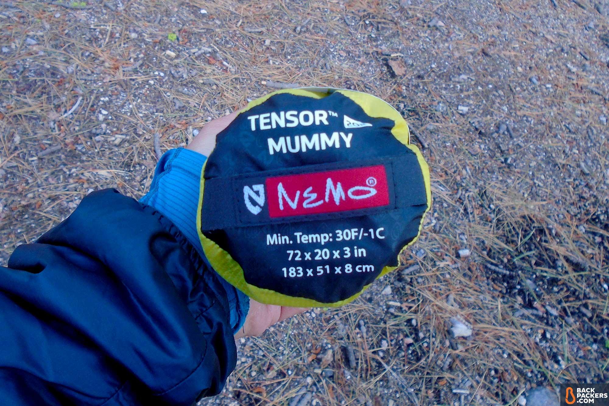 Ультралегкий надувной коврик для туризма и походов ultralight Nemo Tensor