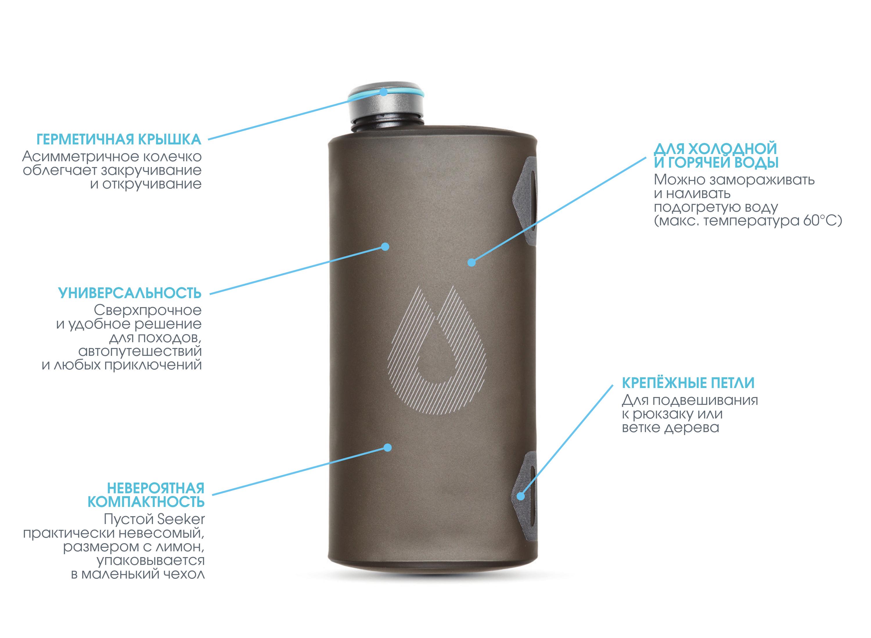 Походная емкость для воды HydraPak Seeker