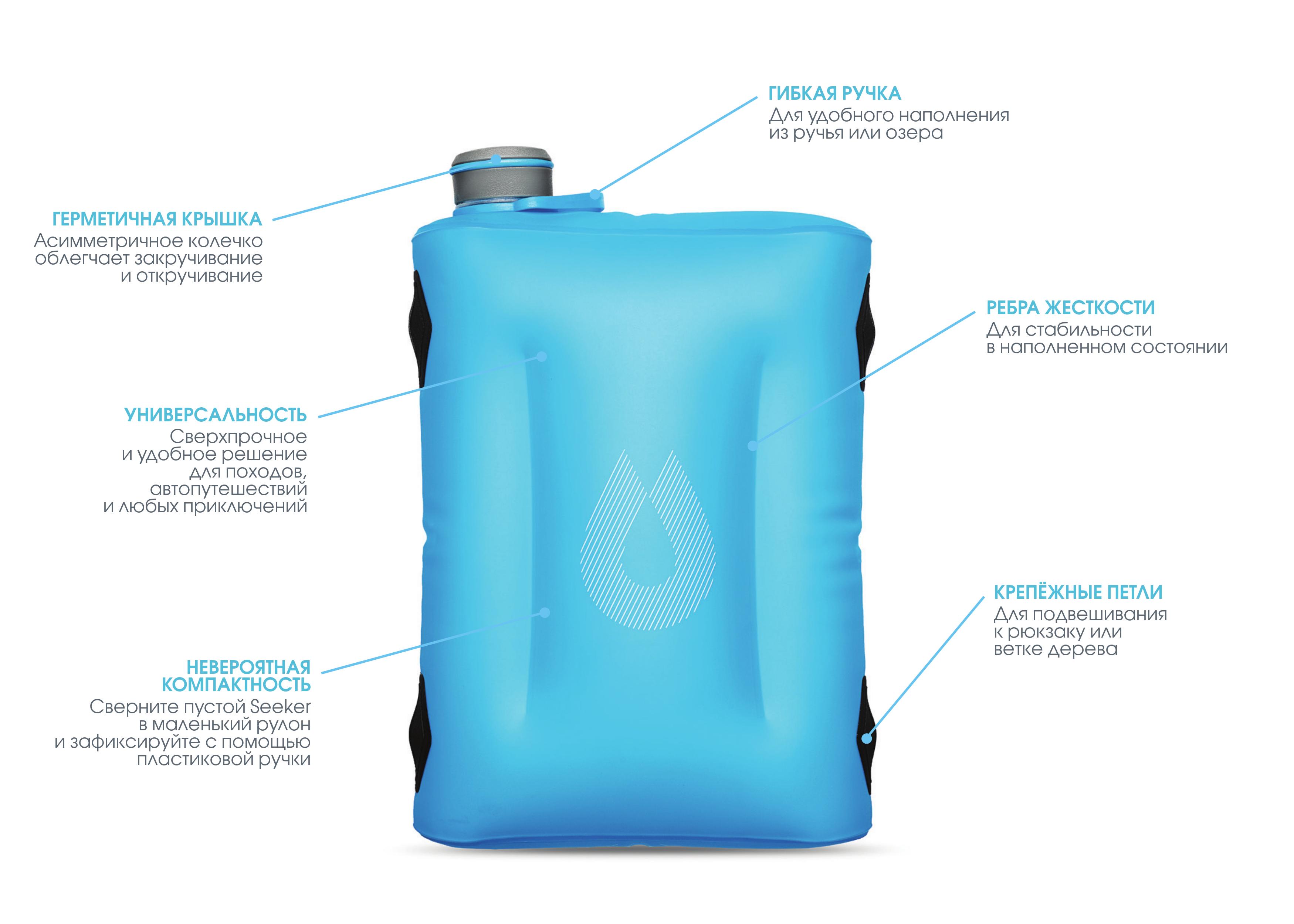 Туристическая емкость для воды HydraPak Seeker 4 L